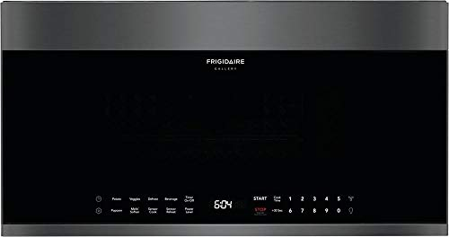 "Frigidaire FGBM19WNVD 30"" Gallery Series Black Stainless Steel Over-The-Range Microwave with 1.9 cu. ft. Capacity 300 CFM Sensor Cooking and LED Interior Lighting"