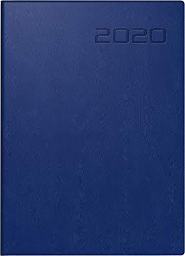 rido/idé 701801430 Taschenkalender perfect/Technik I (2 Seiten = 1 Woche, 100 x 140 mm, Kunstleder-Einband, Kalendarium 2020) dunkelblau