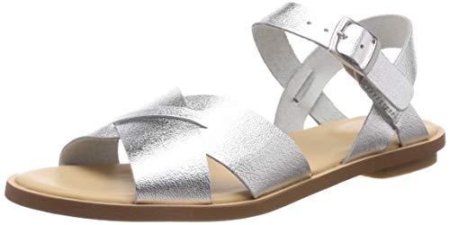 Clarks Damen Slingback Sandalen, Silber (Silver Metallic), 38 EU