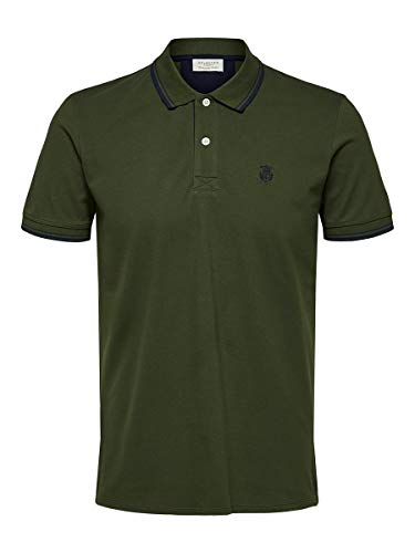 SELECTED HOMME Slhnewseason SS Polo W Noos Camiseta sin Mangas, Rifle Green, M para Hombre