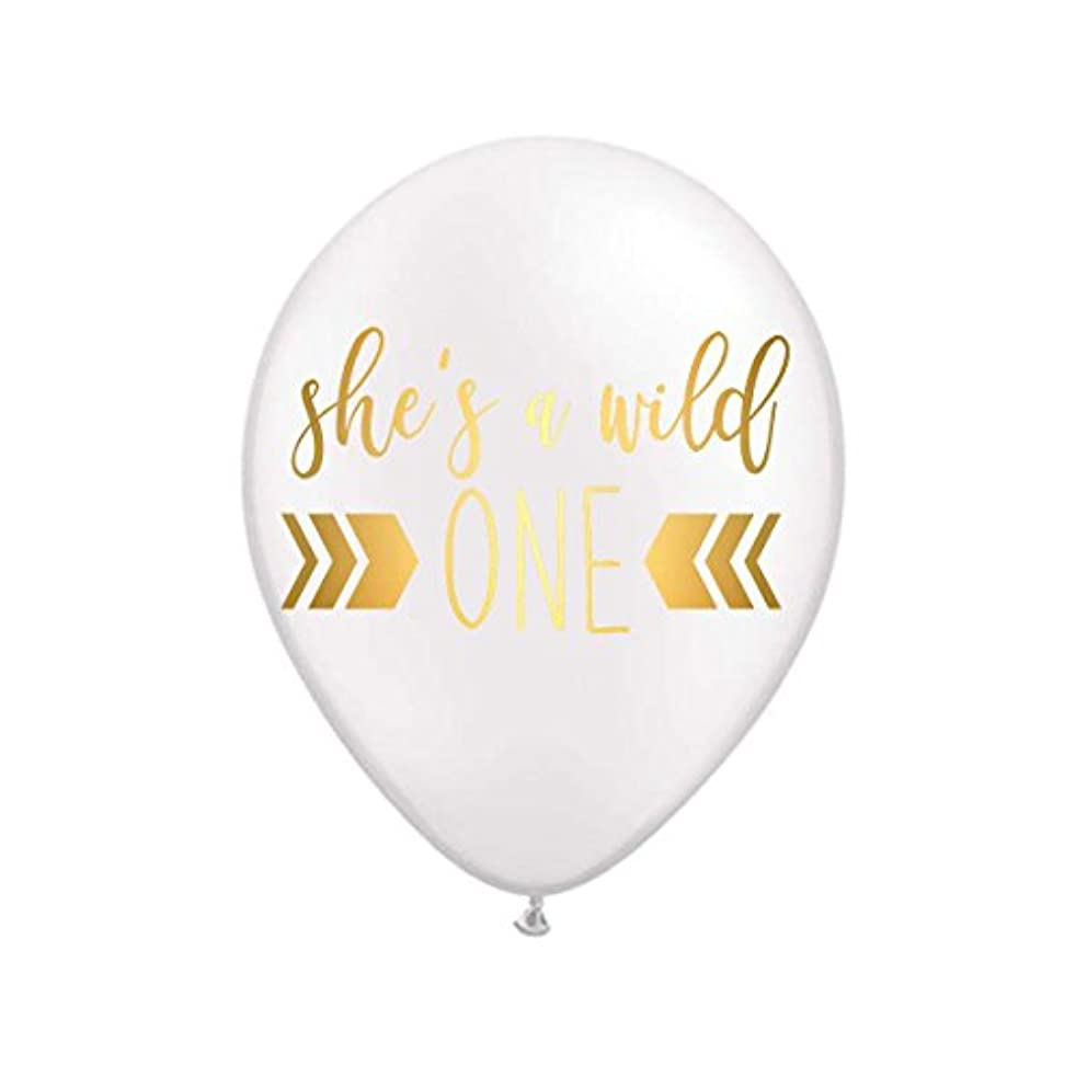 She's a Wild One, White Wild One Balloons, First Birthday Party Balloons, First Birthday for her, Birthday Party Balloons, She's a Wild 1 Birthday Party Decor, Set of 3