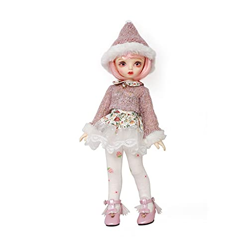 BJD Doll 10 Inch 1/6 SD Dolls for Age 3 4 5 6 7 Years Old Kids Dolls for Girls Baby Cute Doll Toy with Clothes and Shoes Birthday Gift for Girls - Karou Toys