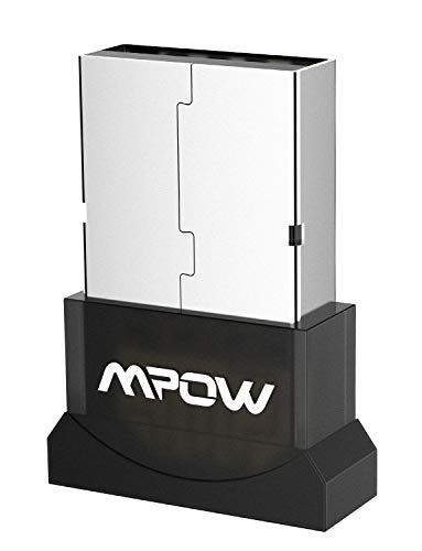 Mpow USB Bluetooth Adapter,4.0 Bluetooth Dongle Receiver Support Windows 7, 8, 10, XP (Plug and Play for Win 8 and Win 10), for Desktop, Laptop, Mouse, Keyboard, Printers, Headsets, Speakers, PS4/ Xbo