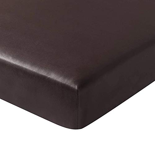 OSISTER7, federa per cuscino per divano, accessorio per la casa, morbido, universale, elasticizzata, in pelle PU, impermeabile, con fondo elastico, flessibile, antipolvere, colore caffè scuro
