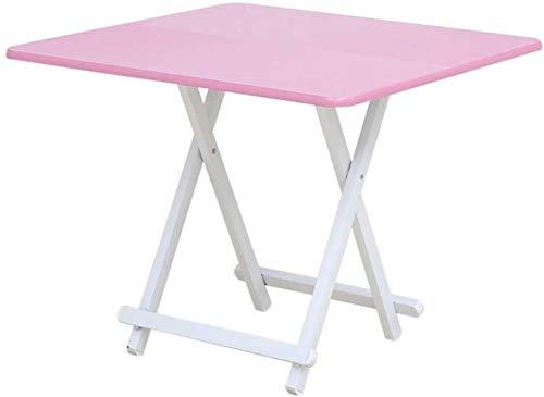 Coffee Table Mesa plegable para sala de estar, mesa de picnic para exteriores, mesa de comedor, mesa de suelo, mesa portátil (tamaño 80 x 80 cm)