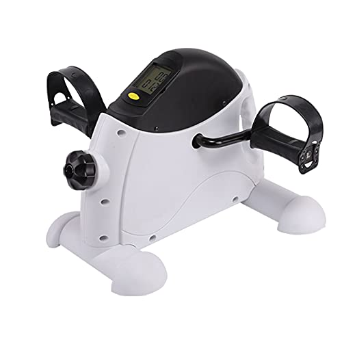 QYCloud Debajo Bicicleta Escritorio Ejercitador Pedales Mini Bicicleta Pedal Ejercicio Portátil para Brazo y Pierna con Monitor Digital LCD
