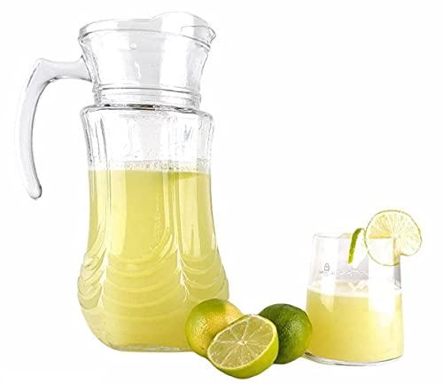 Jarras y jarra de agua – Jarra de cristal con tapa, jarra de agua más botella, agua flamenca, jarra refrigerante para zumo (jarra Glass Jar)
