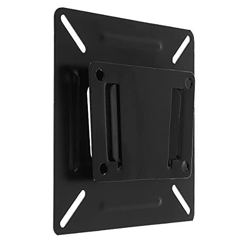 TANGIST SPHC de Pared de TV de 15 kg Delgada con Recubrimiento con Acabado TV Soporte de TV Fijo TV Marco DE TV para 14-24 Pulgadas LCD LED Monitor Stand