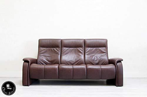Classic Interior Musterring Leder Sofa Hocker 3er Designer Couch Sofagarnitur