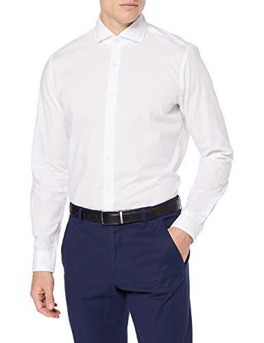 Strellson Premium Herren Sereno-SW Businesshemd, Weiß (White 100), (Herstellergröße: 37)