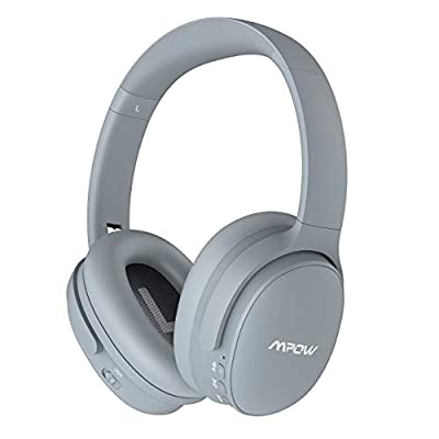 Mpow H10 Dual-Mic Noise Cancelling Headphones, [30Hrs Playtime] Wireless Headphones Bluetooth, Hi-Fi Deep Bass, CVC 6.0 Mic, Soft Memory Protein Earmuffs, Headset for Travel Work TV PC Cellphone