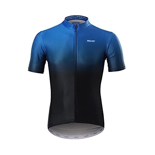 GITVIENAR Maillot de ciclismo para hombre, de manga corta, transpirable, de secado rápido, reflectante, con bolsillo, ropa de ciclismo para hombre 852 M