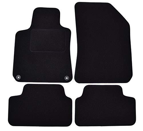 J&J AUTOMOTIVE | Tapis DE Sol Noir Velours Compatible avec Peugeot 308 II 2014-2021 4 pcs