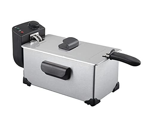 JOCCA - Freidora de aceite caliente 2200W - Capacidad 3 litros