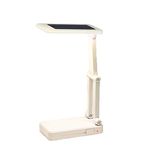 KAMAW Schreibtisch-Leselampen 15 LED Solar Faltbare verstellbare Schreibtischlampen Superhelle tragbare LED-Leuchte Wiederaufladbare Tischleuchte zum Lesen