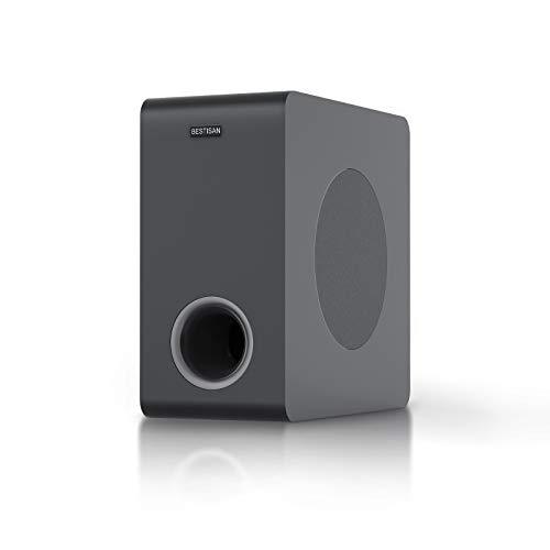 Bestisan Powered Subwoofer, Deep Bass Home Audio Subwoofer Sub, Wired and Wireless Compact Subwoofer for Home Theater/TV/Speakers/Computer/Phone, Bluetooth 5.0/Optical/RCA, 2021 Model, 6.5'', Black