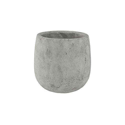 TS Indoor Keramik Blumentopf Amber Ø 18 cm, Höhe 19 cm, Farbe hellgrau, Betonoptik