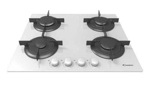 Candy CVG 64 SPB Incasso Piano cottura a gas Nero, Bianco