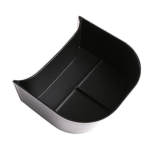 FangFang Accesorios para automóviles FIT PARA TESLA MODELO 3 2016-2019 ABDOMINALES Caja de almacenamiento trasero del coche negro Caja de almacenamiento de caja de almacenamiento Dries de dos filas