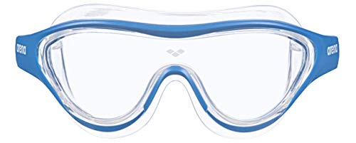 Arena The One Mask, Occhiali Unisex Adulto, Blu (Clear Blue White), Taglia Unica