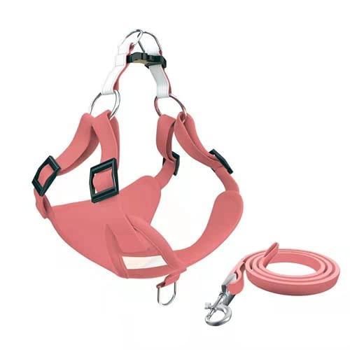 ZZCR Guinzaglio Per Animali Domestici Guinzaglio Con Strisce Riflettenti Imbracatura Per Cani Combinazione Di Corde Rosa s