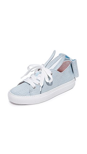 MINNA PARIKKA Women's T-Bow Sneakers, Light Denim, Blue, 6 Medium US