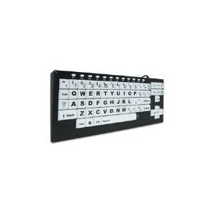 Visionboard2 Large Key Keyboard - Keyboard - USB - Black, White
