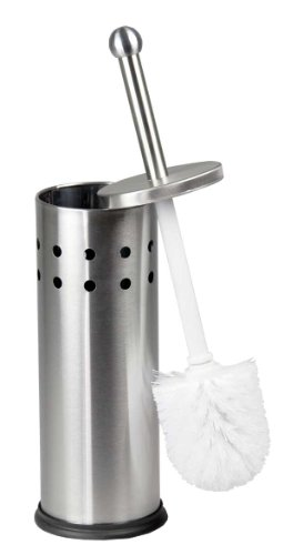Home Basics Vented Stainless Steel Toilet Brush Holder