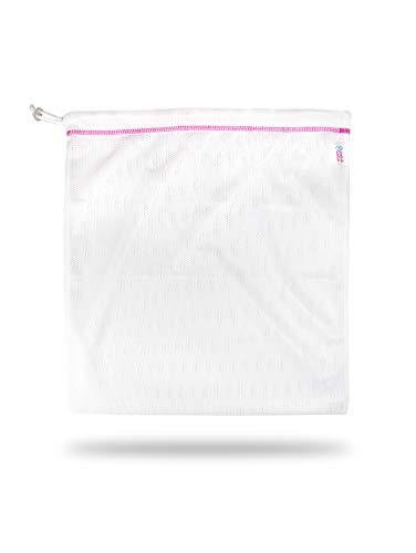 Petit Lulu Mesh Wäschesack 3 Größen   Robustes Netzmaterial   Kordelzugverschluss   Waschmaschine Waschbeutel für Stoffwindeln und Zubehör   Wiederverwendbar und Waschbar   Hergestellt in EU (Medium)