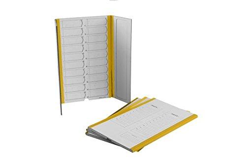 20 Capacity Slide Folder, Yellow (40/case)