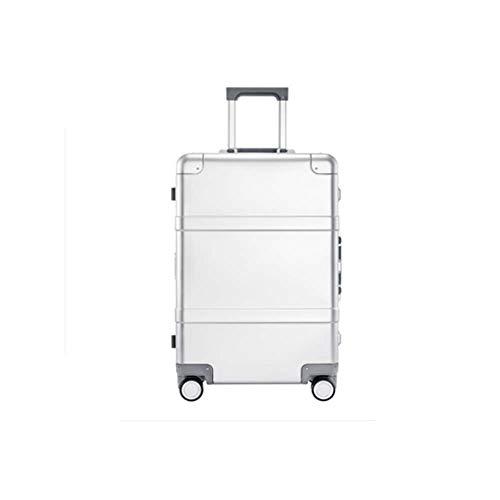 Koffer van metaal, 20 inch en magnesium, compleet, commerciële koffer, aluminiumlegering, voor kruiwagen (kleur: zilver, maat: 55 cm)