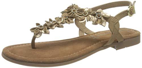 MARCO TOZZI 2-2-28148-28, Sandalia Mujer, Taupe Comb, 36 EU