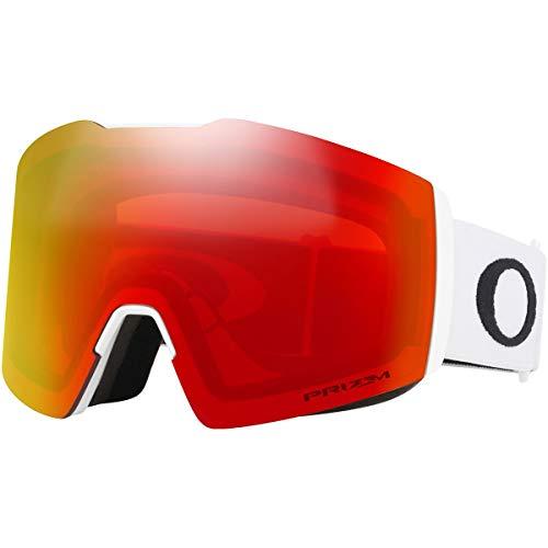 Oakley Unisex-Adult Fall Line XL Sunglasses, Mehrfarbig (Matte White/prizm Snow Torch irridium