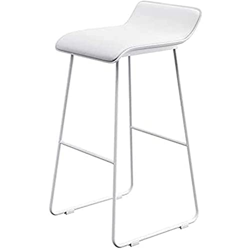 VERDELZ Barstool Breakfast High Chair With Black Metal Legs And PU Leather Seat For Kitchen Pub Stool Simple Modern Iron Art Design