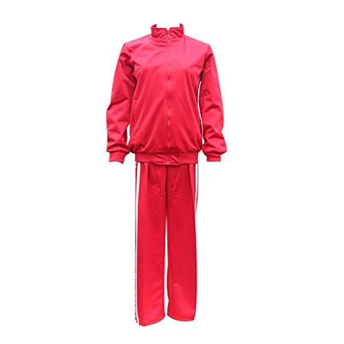 YANGGO Haikyuu Cosplay Tetsurou Kuroo Jacket Cosplay Nekoma High School Uniform Tracksuit (L,Red Set)