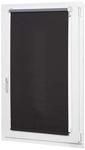 AmazonBasics - Verdunkelungsrollo mit farbiger Beschichtung, 86 x 150 cm, Schwarz