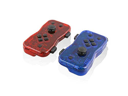 Nyko Dualies – Pair of Motion Controllers with Included USB Type-C Charging Cable, Joy-Con Alternative for Nintendo Switch Red/Blue