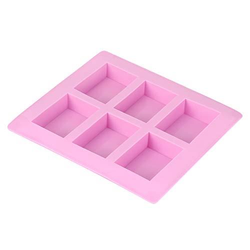 Molde Para Tartas, 40 A 230 ℃ Molde Rectangular De Silicona Rosa Fácil De Desmoldar Para Pastelería Para Pastelería Para Tartas