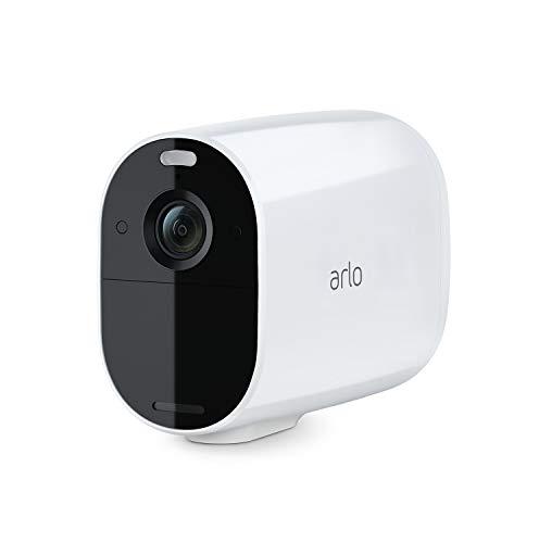 Arlo Essential XL Spotlight WLAN Überwachungskamera | Kabellos, 130° Blickwinkel, 1080p, Farbnachtsicht, 2-Wege Audio, 12 Monate Akkulaufzeit, Bewegungsmelder, kein Hub erforderlich, VMC2032