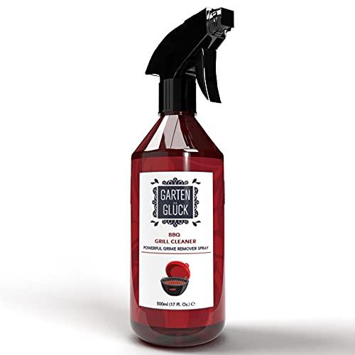 Garten Glück Spray Pulizia Barbecue - Spray Pulisci Griglia Barbecue - Detergente Sgrassatore Barbecue - Spray Naturale per Pulizia Griglia Barbecue - Pulitore Griglia Barbecue - Pulizia BBQ, 500 ml