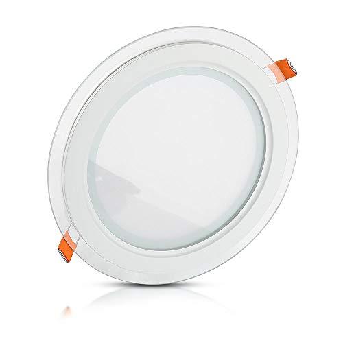V-TAC 4743 - Luminaria de techo empotrable redonda led (cristal 12 W...