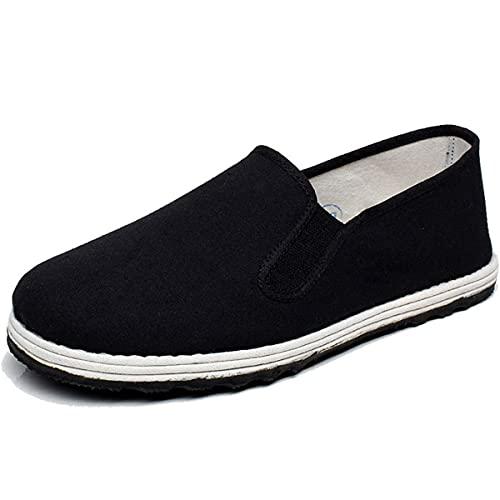 Unisex Martial Art Shoe Chinese Traditional Beijing Beijing Zapatos De Goma Suela Kung Fu Tai Chi Shoes,Negro,38 EU