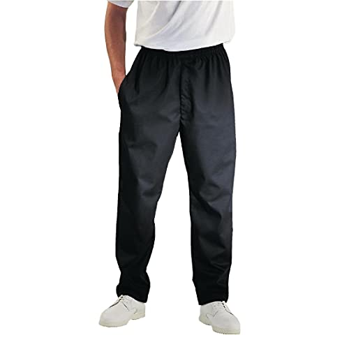 Chef Works Men's Essential Baggy Chef Pants, Black, 4X-Large