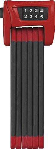 ABUS Faltschloss Bordo Combo 6100/90, Red, 90 cm, 52637