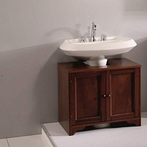 Bagno Italia Base Copri Colonna Mobile per Bagno copricolonna da 70cm in Arte povera Legno massello Noce