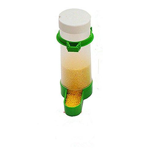 Dewin Mangiatoia per uccelli - Mangiatoia per uccelli in plastica/Annaffiatrice, Gabbia di alimentazione automatica dell\'acqua per semi, per pappagallo parrocchetto (Capacity : 150ML)