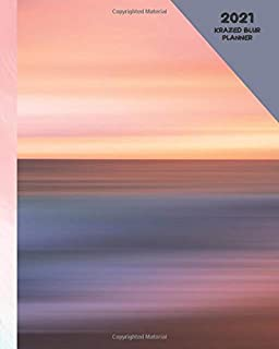 Krazed Blur: Ombre Planner 2021 Weekly & Monthly Calendar Organizer With Pink Mauve Purple Peach Butter Yellow Sunset Rainbow