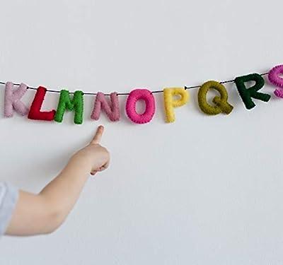 Alphabet Garland/Alphabet Banner/ABC/Toddler Room Wall Hanging/Teepee Decorations/Felt Banners/Natural Wool Felt/Nursery Decor/Baby Room