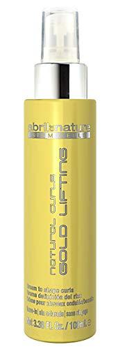 April Et Nature B07JN8CMJ5 Gold Lifting Natural Curls 100ml Serum for Curly or Wavy Hair