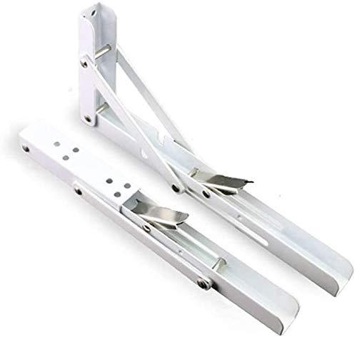2 stks Witte Driehoek Opvouwbare 90 graden Driehoek Rack, Heavy Duty RVS Vouwen Voor Werkbank, Compact DIY Rack, Max belasting: 75 kg